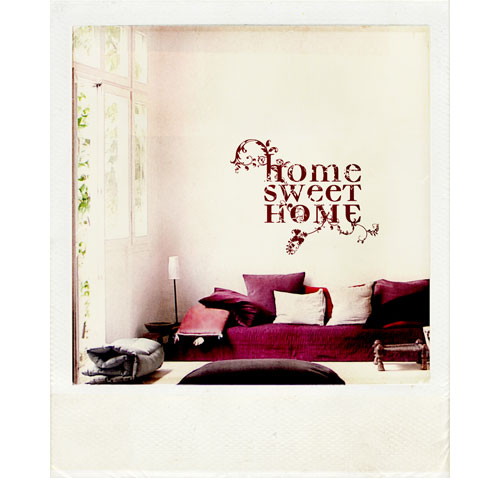worte statt bilder an die wand sweet home. Black Bedroom Furniture Sets. Home Design Ideas