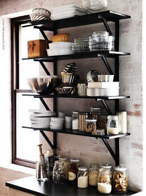 Open Shelves For Kitchen Dark Inspirations With Awesome: 12 Einrichtungstipps, Die überall Gut Funktionieren