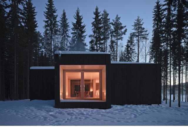 Geometrisches waldhaus in finnland sweet home for Casa minimalista 6 x 12