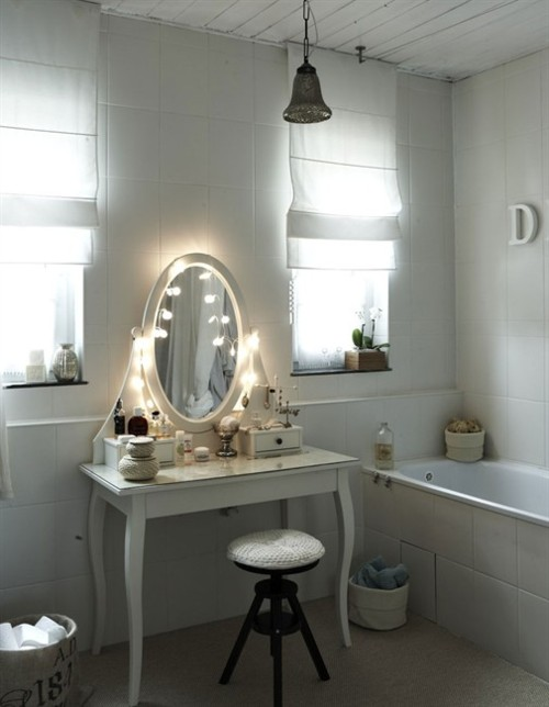 Makeup vanity with lights ikea