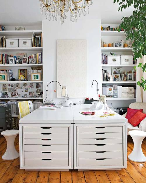 Arbeitszimmer einrichtungsideen ikea  Mehr Platz zum Wohnen: 24 gute Ideen, um Ihre Sachen zu verstauen ...