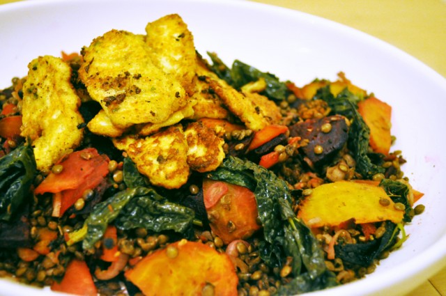 spiced-halloumi-warm-puy-lentil-spinach-beetroot-salad-lo-res