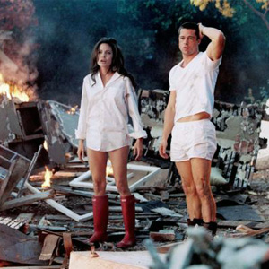 Angelina Jolie und Brad Pitt im Film Mr. and Mrs. Smith.