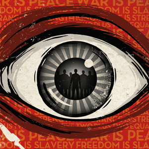 Big Brother is watching you: Filmplakat zu George Orwells «1984». (PD)