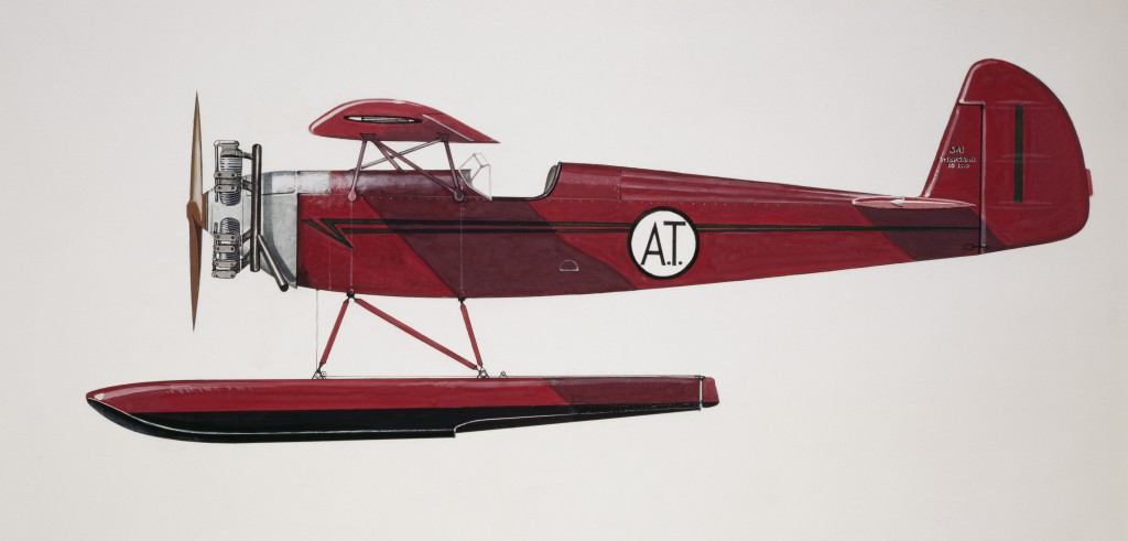 Ambrosini SAI10 Wasserflugzeug, 1939, Italien, Zeichnung. (Photo by DeAgostini/Getty Images)