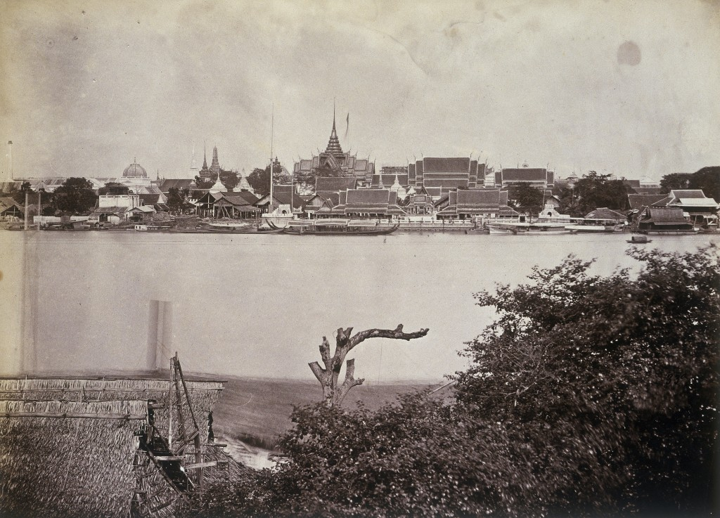A souvenir of Odoardo Beccari's journeys: view of Bangkok, its river and Royal Palace (Photo by Alinari via Getty Images)