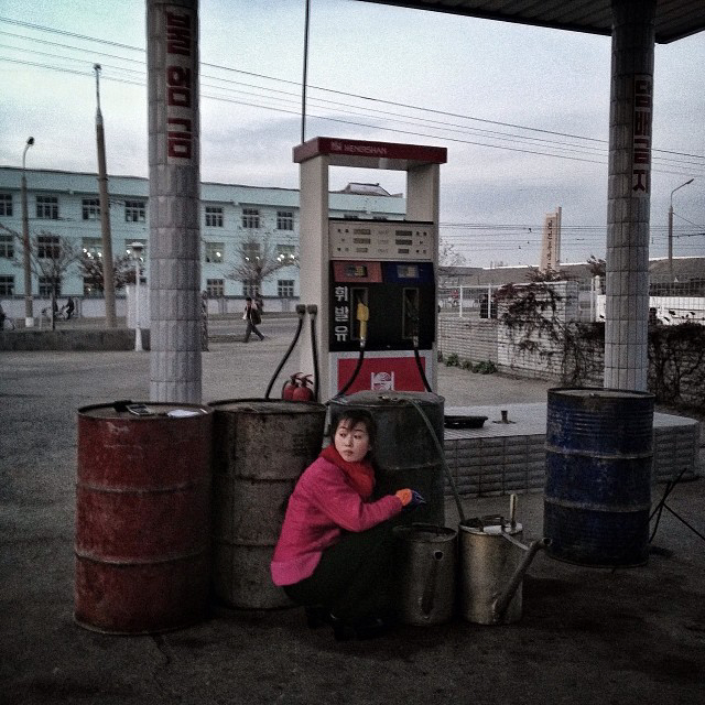 Gas station in Hamhung, North Korea. (AP Photo/David Guttenfelder)