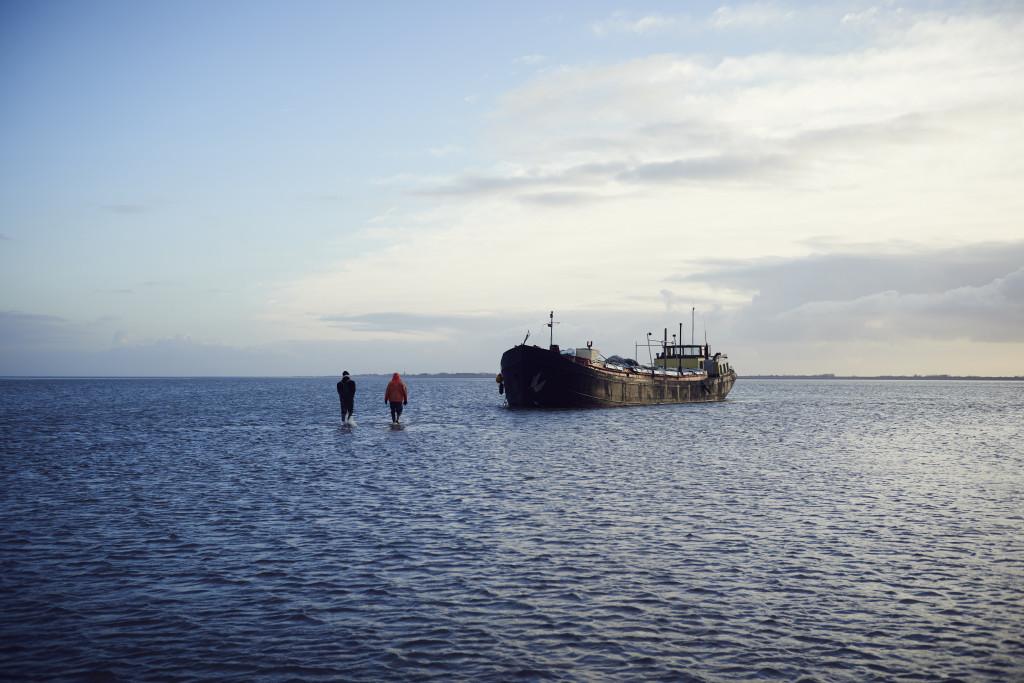 Die TS31 von den Austernfischern Barbara und Jan auf dem Wattenmeer in Holland. Austernfischerei auf dem Wattenmeer nah des Hafens von Den Oever in Holland.