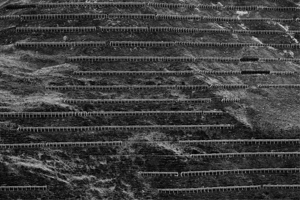 ** Oder das Tal aufgeben ** Die Lawinenschutzbauten von St. Antönien Bauten zum Schutz des Lebensraumes: Kaspar Thalmanns Fotoreportage über die Lawinenverbauung oberhalb St. Antönien Buch: Scheidegger & Spiess
