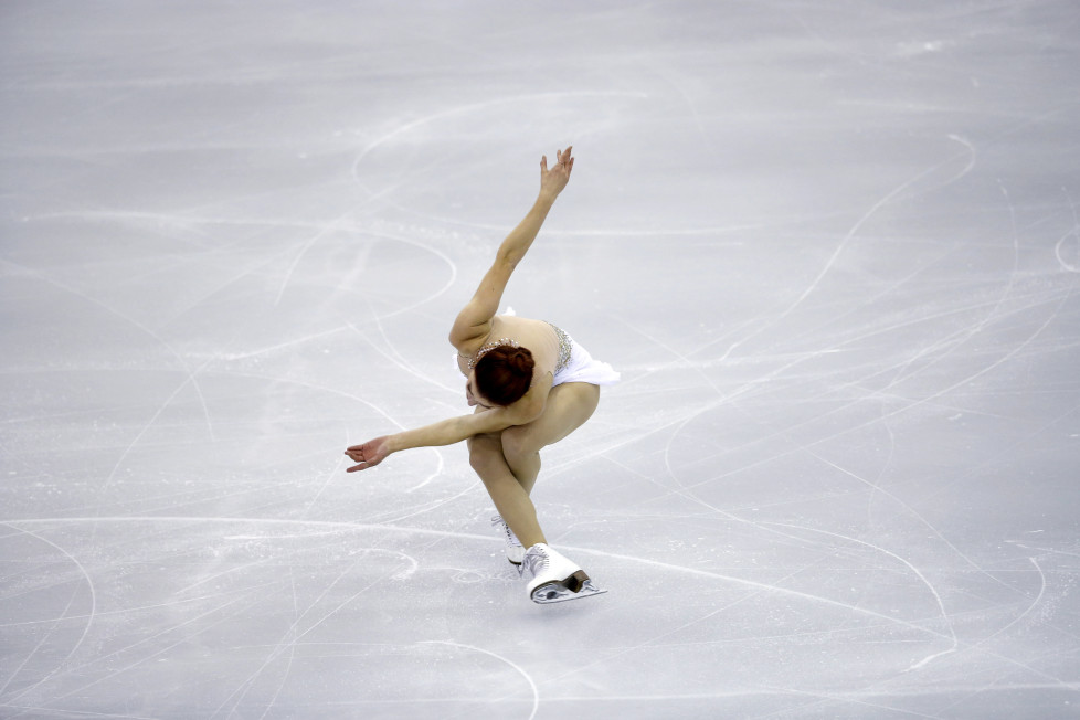 Ashley Wagner of the U.S. performs during the ladies free program at the ISU Grand Prix of Figure Skating final in Barcelona, Spain, December 12, 2015. REUTERS/Albert Gea - RTX1YF35