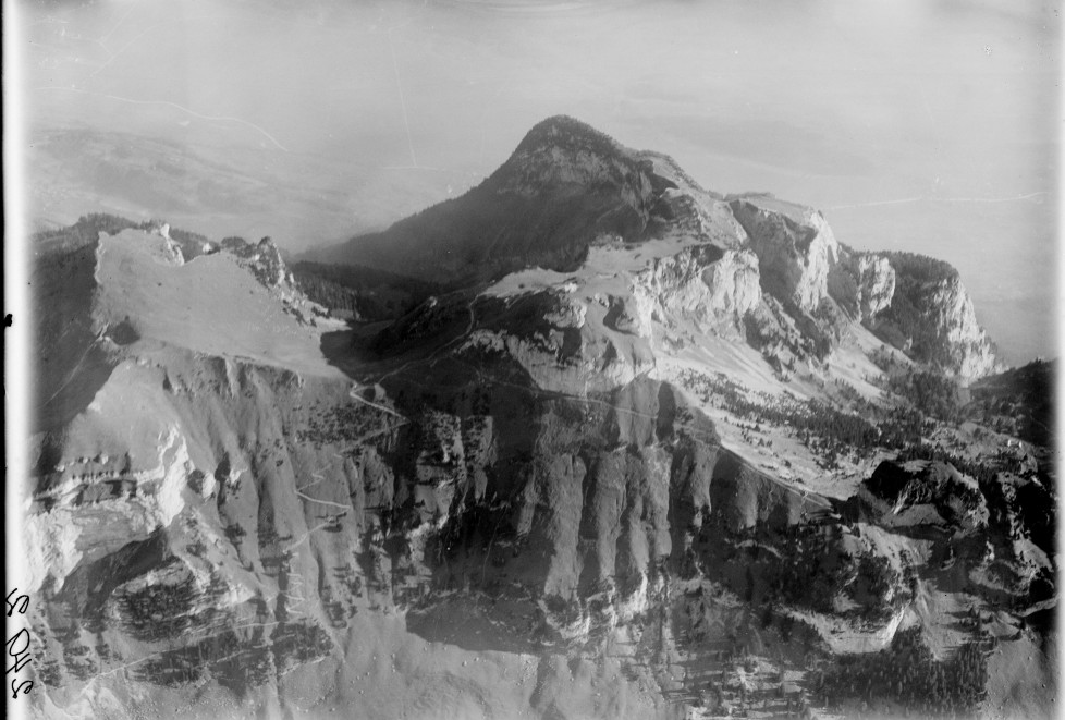 Kamor, Hoher Kasten, Rheintal v. N. W. aus 3500 m