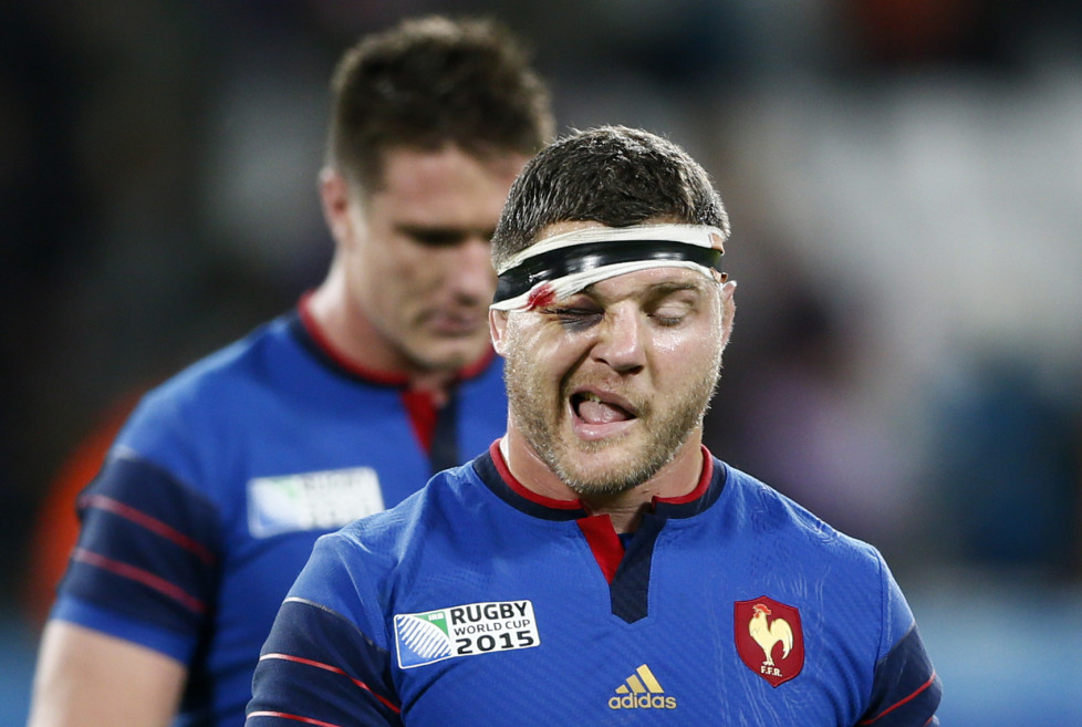 Rugby Union - France v Romania - IRB Rugby World Cup 2015 Pool D - Olympic Stadium, London, England - 23/9/15 France's Benjamin Kayser after the match Reuters / Stefan Wermuth Livepic - RTX1S4SK