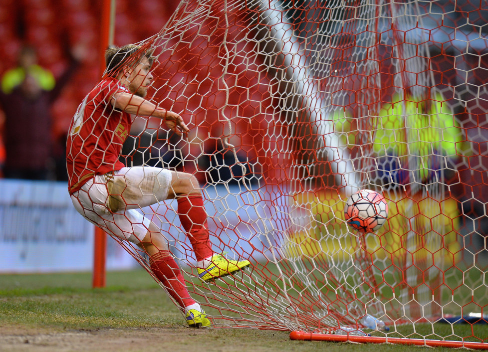 NOTTINGHAM, ENGLAND - JANUARY 09: Jamie Ward of Nottingham Forest celebrates scoring during The Emirates FA Cup Third Round match between Nottingham Forest and Queens Park Rangers at City Ground on January 9, 2016 in Nottingham, England. (Photo by Tony Marshall/Getty Images)