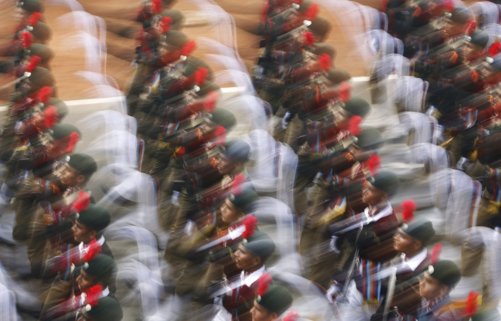 National Cadet Corps (NCC) cadets march during the Republic Day parade in New Delhi, India, January 26, 2016. REUTERS/Adnan Abidi