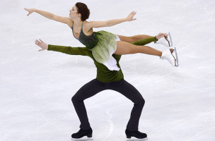 BRATISLAVA, SLOVAKIA - JANUARY 30:  Cecilia Toern and Jussiville Partanen of Finland perform during Ice Dance Free Dance on day four of the ISU European Figure Skating Championships 2016 on January 30, 2016 in Bratislava, Slovakia.  (Photo by Daniel Kopatsch - ISU/ISU via Getty Images)