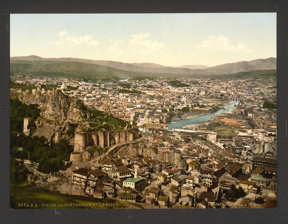Town and fortress, Tiflis, Russia, (Tbilisi, Georgia) between 1890 - 1900 (c) Library of Congress