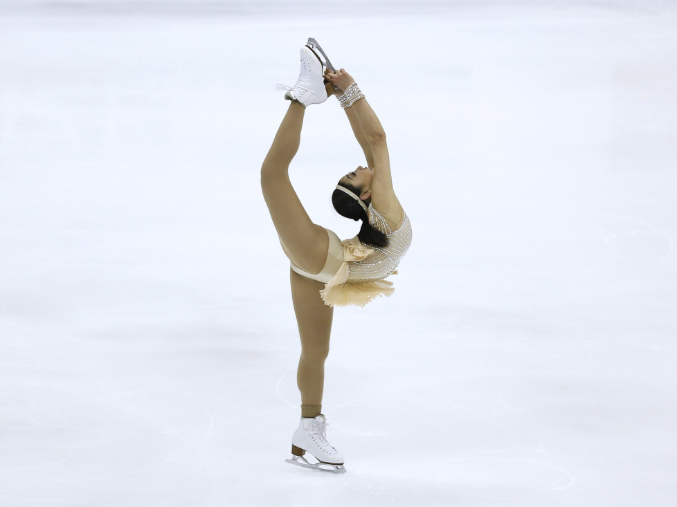 TAIPEI, TAIWAN - FEBRUARY 20: Mira Nagasu of United States performs during the Ladies Free Skating on day three of the ISU Four Continents Figure Skating Championships 2016 at Taipei Arena on February 20, 2016 in Taipei City, Taiwan. (Photo by On Man Kevin Lee/ISU via Getty Images)