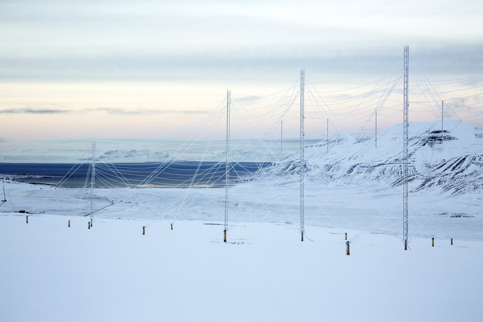 "Radar antennas at the European Incoherent Scatter Scientific Association (EISCAT) facility on Breinosa, Svalbard, Norway October 24, 2015. A Norwegian chain of islands just 1,200 km (750 miles) from the North Pole is trying to promote new technologies, tourism and scientific research in a shift from high-polluting coal mining that has been a backbone of the remote economy for decades. Norway suspended most coal mining on the Svalbard archipelago last year because of the high costs, and is looking for alternative jobs for about 2,200 inhabitants on islands where polar bears roam. Part of the answer may be to boost science: in Ny-Alesund, the world's most northerly permanent non-military settlement, scientists from 11 nations including Norway, Germany, France, Britain, India and South Korea study issues such as climate change. The presence of Norway, a NATO member, also gives the alliance a strategic foothold in the far north, of increasing importance after neighbouring Russia annexed Ukraine's Crimea region in 2014. REUTERS/Anna FilipovaPICTURE 02 OF 19 - SEARCH ""SVALBARD FILIPOVA"" FOR ALL IMAGES"