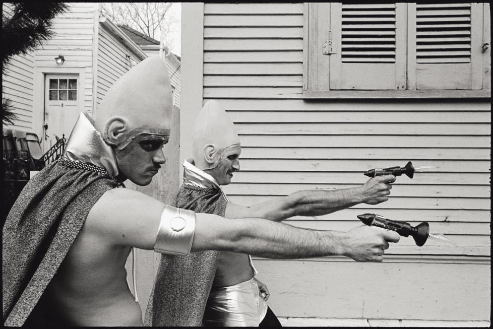 USA. New Orleans, Louisiana. 1982. Mardi Gras. Coneheads.
