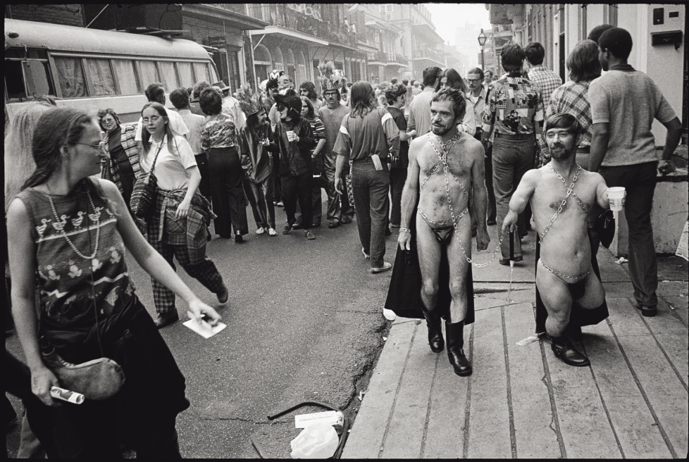 USA. New Orleans, Louisiana. 1977. Mardi Gras. French Quarter.