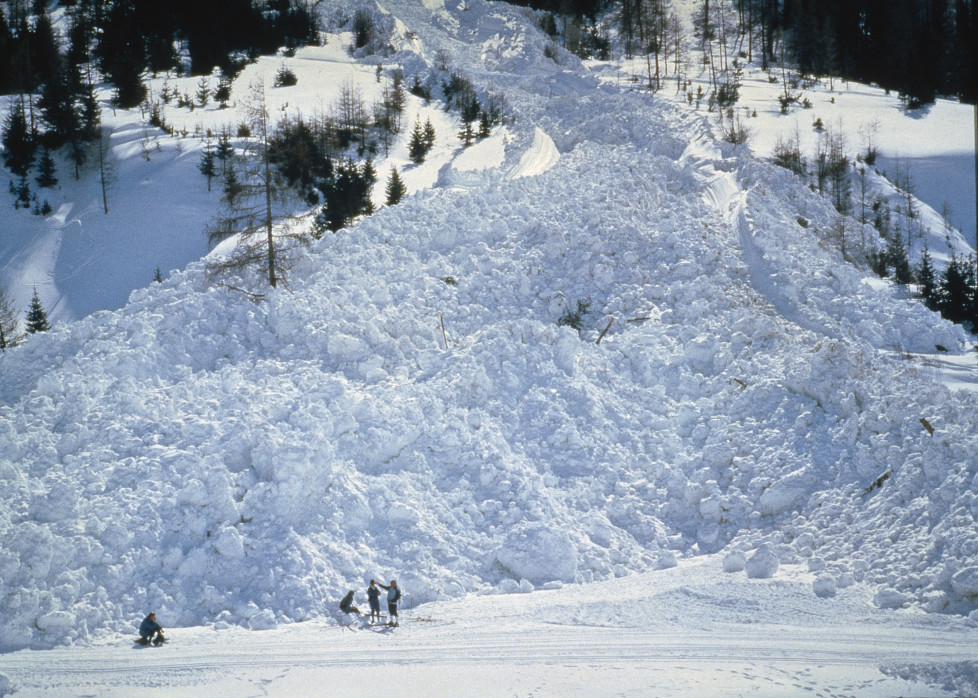 "NATIONAL GEOGRAPHIC SPECIAL -- ""Avalanche: The White Death"" Aired 05/08/1999 -- Pictured: Avalanche aftermath and wreckage (Photo by Pete Amold/NBC/NBCU Photo Bank via Getty Images)"
