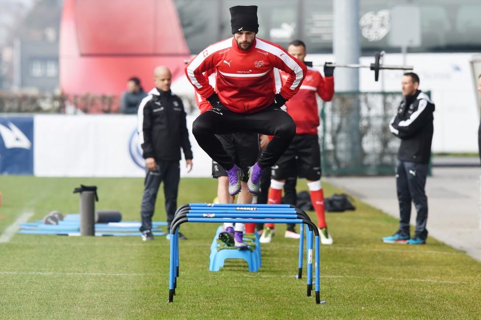 Jona, 22.03.2016, Fussball - Training Schweiz, Admir Mehmedi waehrend des Trainings. (Melanie Duchene/EQ Images)