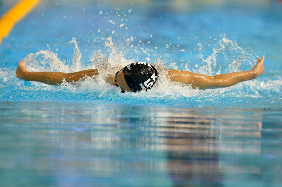 MONTPELLIER, FRANCE - MARCH 29: Margaux Fabre of France competes in the 100m Women's butterfly on day one of the French National swimming championships on March 29, 2016 in Montpellier, France. (Photo by Aurelien Meunier/Getty Images)