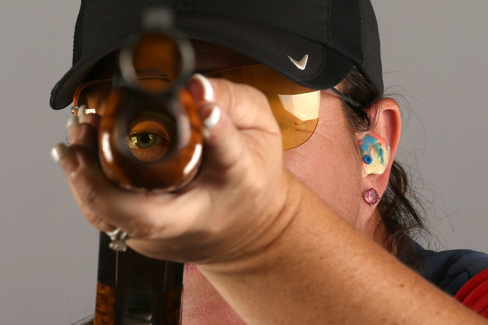 BEVERLY HILLS, CA - MARCH 08: Shooter Kim Rhode poses for a portrait at the 2016 Team USA Media Summit at The Beverly Hilton Hotel on March 8, 2016 in Beverly Hills, California. (Photo by Sean M. Haffey/Getty Images) *** BESTPIX ***
