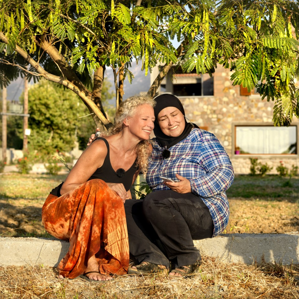 These portraits belong to the project 'The Island of All Together'. It's a project about conversations between refugees and tourist on the Greek Island Lesvos. Made by Marieke van der Velden and Philip Brink. www.theislandofalltogether.com