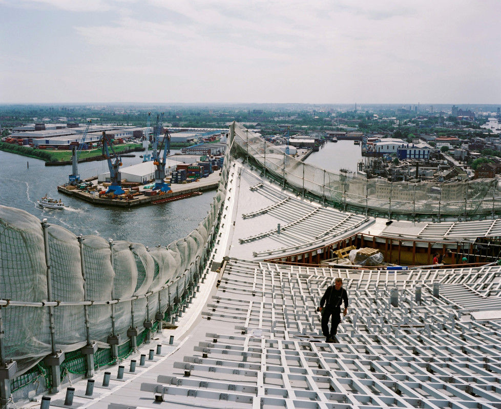 Elbphilharmonie Hamburg, Mai 2011, Dacharbeiten