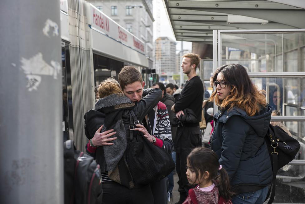 Buslinien 31 und 32 **Fotoblog** Bild 12 Linie 31 beim Bahnhofplatz (Tamedia AG/Thomas Egli, 31.3.2016)