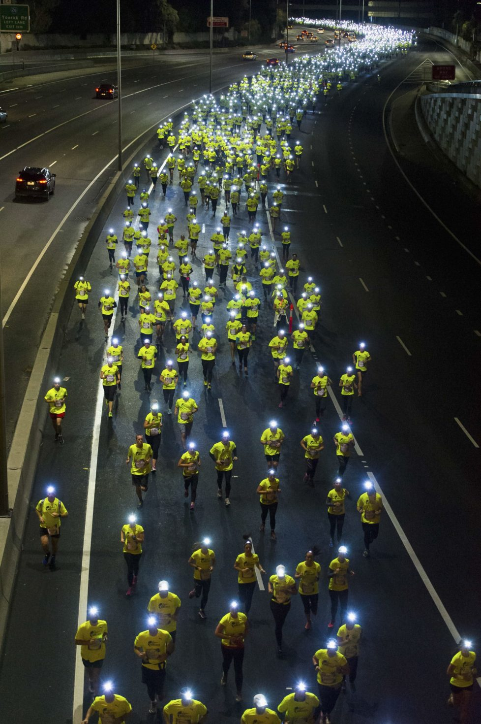 MELBOURNE, AUSTRALIA - MAY 8: Participants compete during the Wings for Life World Run on May 8, 2016 in Melbourne, Australia. A record 130,732 registered for the race worldwide. (Photo by Mark Dadswell/Getty Images for Red Bull) *** BESTPIX ***
