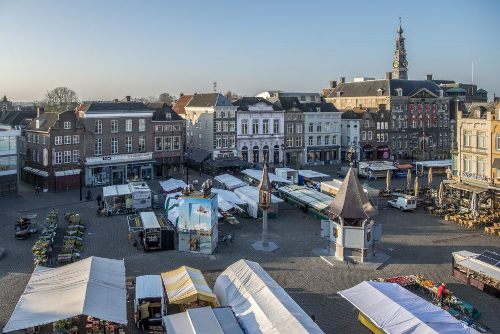 Marktplatz in der Altstadt von 's-Hertogenbosch. Alle Bilder: Doris Fanconi, April 2016