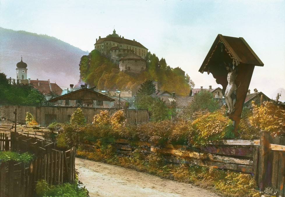 AUSTRIA - CIRCA 1905: Kufstein. Tyrol. Austria. Hand-colored lantern slide around 1905. (Photo by Imagno/Getty Images)