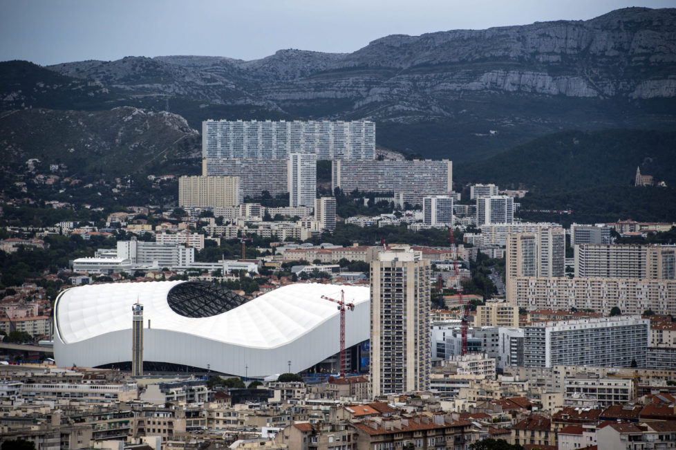 "BILD: RETO OESCHGER, MONTPELLIER, 14.06.2016 RESSORT: SPORT EURO 2016 FRANCE Marseille-Repo -Basilique Notre-Dame de la Garde, ""La Bonne Mère"" Aussicht auf die Stadt Stade Velodrome"