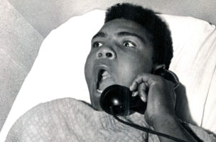 "NOV 5 1963; ALI, MUHAMMAD - INDIVIDUALS; ""I AM THE GREATEST. WHAT TIME IS IT?""; After a night of making Denver, and Sonny Liston in particular, aware of his presence. Cassius Clay and troupe found accomodations at the Albany Hotel. The Denver Post caught him in bad Tuesday morning asking for the time of day and telling hotel employees what a great night he had Monday on the Liston home's front lawn.  (Photo By The Denver Post via Getty Images)"