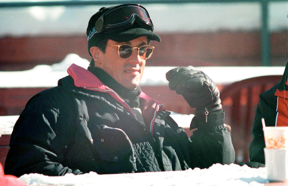 Actor Sylvester Stallone during a skiing trip, circa 1992. (Photo by Kypros/Getty Images) *** Local Caption *** Sylvester Stallone