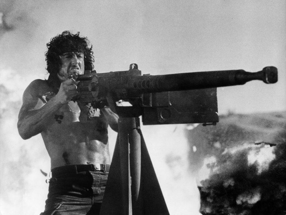 (GERMANY OUT) Stallone, Sylvester *06.07.1946- Schauspieler, Regisseur, USA - als Vietnam-Veteran 'Rambo' in dem Film 'Rambo III', Regie: Peter MacDonald, USA - 1988 (Photo by R?hnert/ullstein bild via Getty Images) *** Local Caption *** 00295846