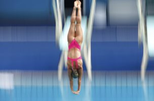 2016 Rio Olympics - Diving - Training Sessions - Maria Lenk Aquatics Centre - Rio De Janeiro, Brazil - 30/07/2016. A diver from Italy practices.  REUTERS/Michael Dalder FOR EDITORIAL USE ONLY. NOT FOR SALE FOR MARKETING OR ADVERTISING CAMPAIGNS.