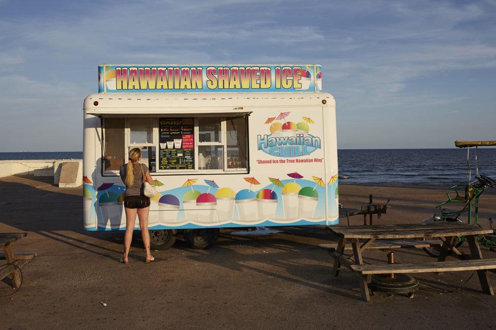 Galveston Texas USA, Ein Eiswagen am Strand von Galveston. Foto: Moritz Hager