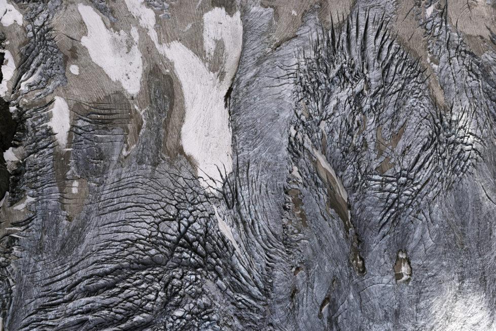 Roseg Gletscher, Sella, Bernina Gebiet, Engadin, Graubünden, Schweiz
