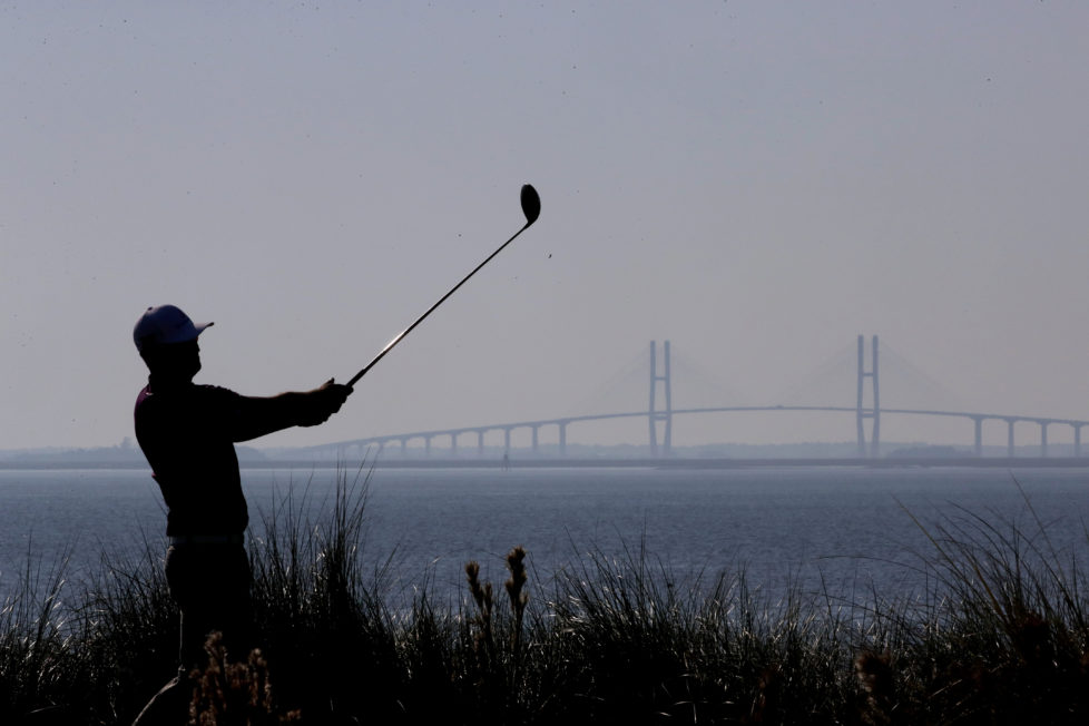 ST SIMONS ISLAND, GA - NOVEMBER 17: Zach Johnson of the United States plays his tee shot on the 14th hole during the first round of the RSM Classic at Sea Island Resort Seaside Course on November 17, 2016 in St Simons Island, Georgia. (Photo by Streeter Lecka/Getty Images) *** BESTPIX ***