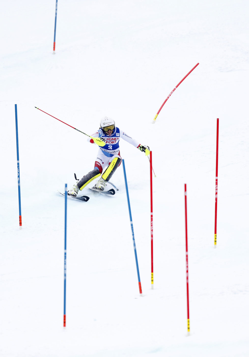 KILLINGTON, VT - NOVEMBER 27: Wendy Holdener of Switzerland in action during the Audi FIS Alpine Ski World Cup Women's Slalom on November 27, 2016 in Killington, Vermont. (Photo by Alexis Boichard/Agence Zoom/Getty Images)