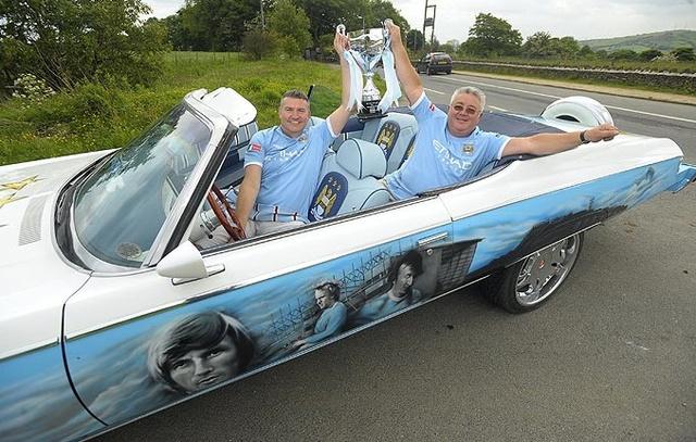 Der FA-Cup und die City Legenden Colin Bell, Franny Lee sowie Mike Summerbee