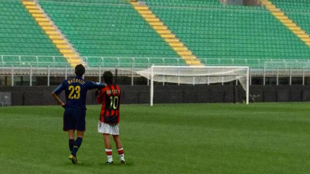 Materazzi und Rui Costa im San Siro (2)